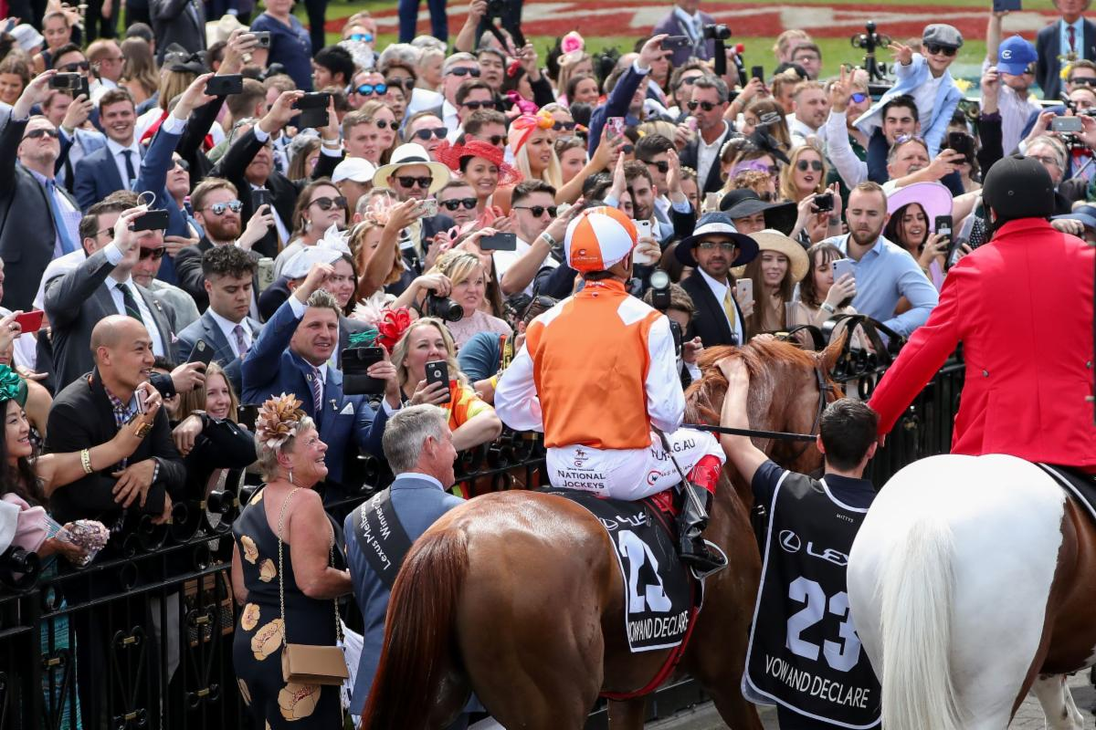 Vow And Declare after winning the 2019 Melbourne Cup (Racing Photos)