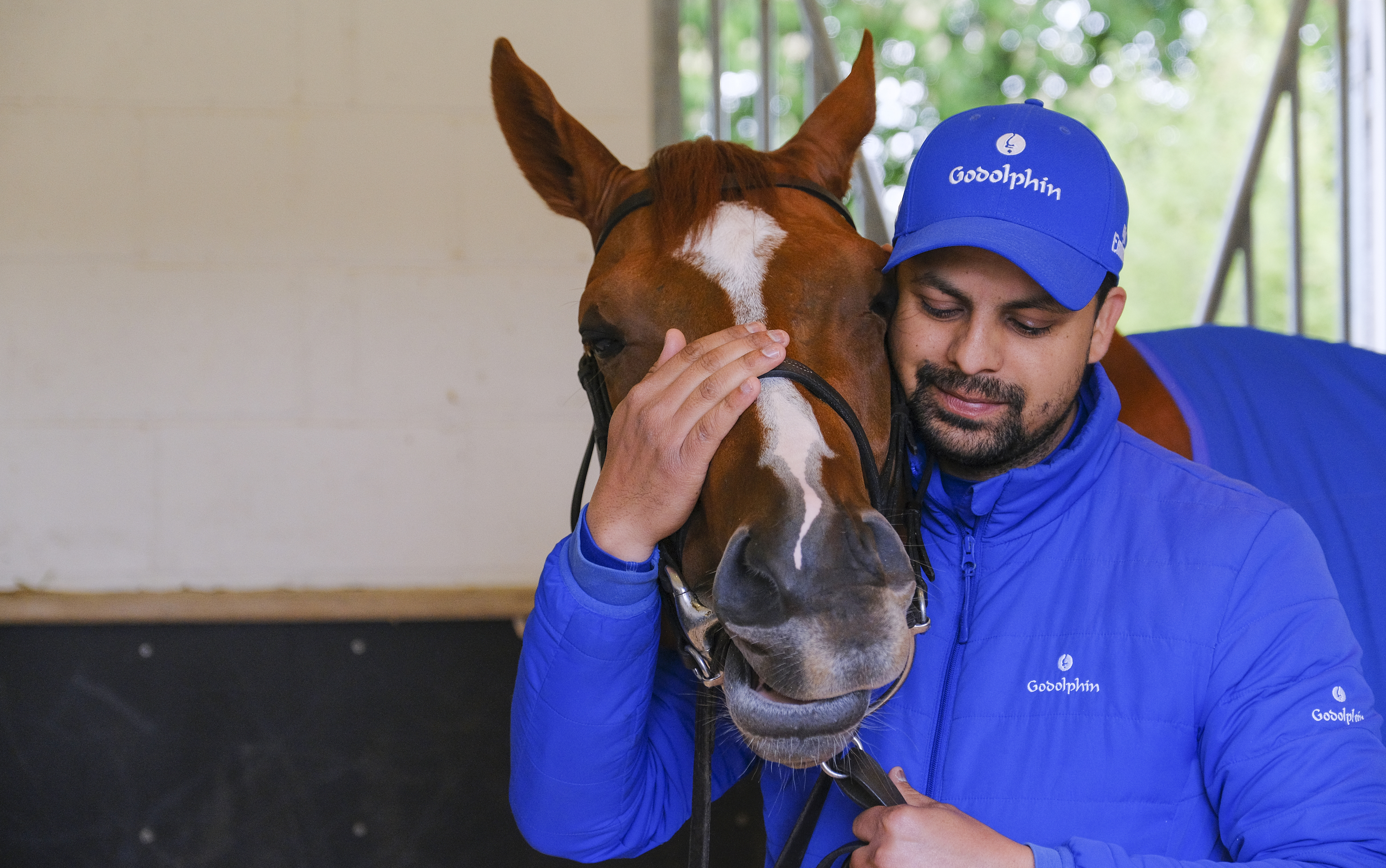 Masar and his lad pictured last month (Epsom Downs Racecourse)