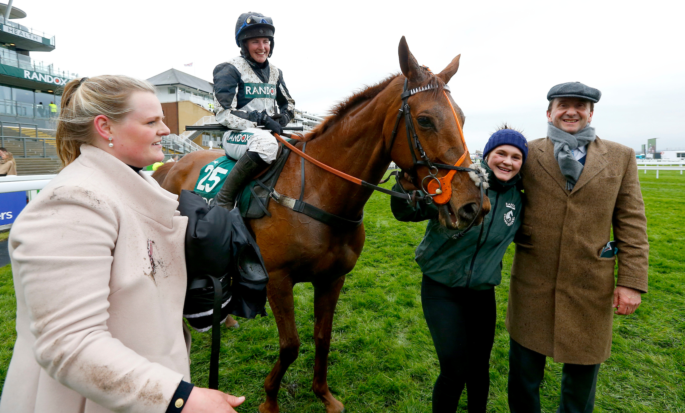Top Wood thrilled his connections, including Weatherby, right, with his Aintree success last week (Focusonracing)