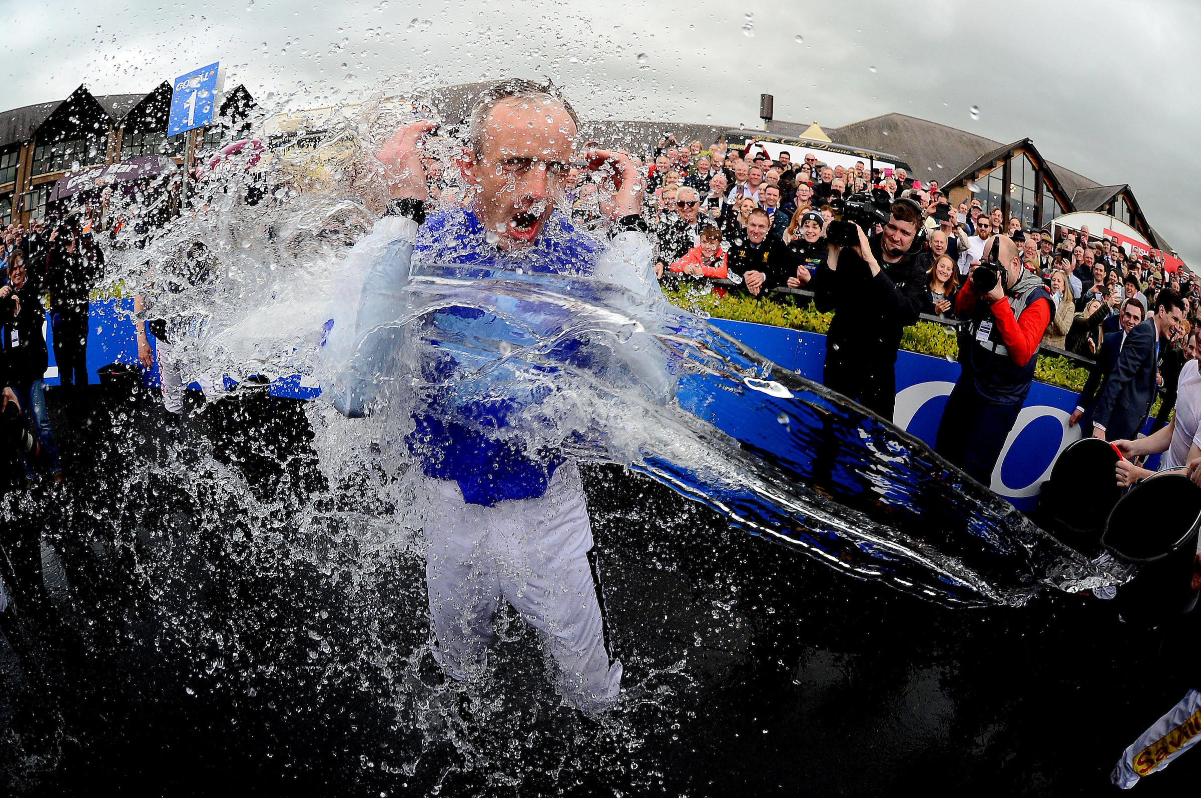 Ruby Walsh receives a soaking after announcing his retirement
