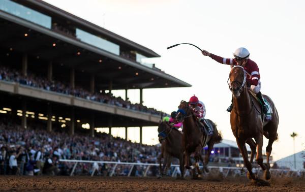Gun Runner wins - Del Mar - Eclipse