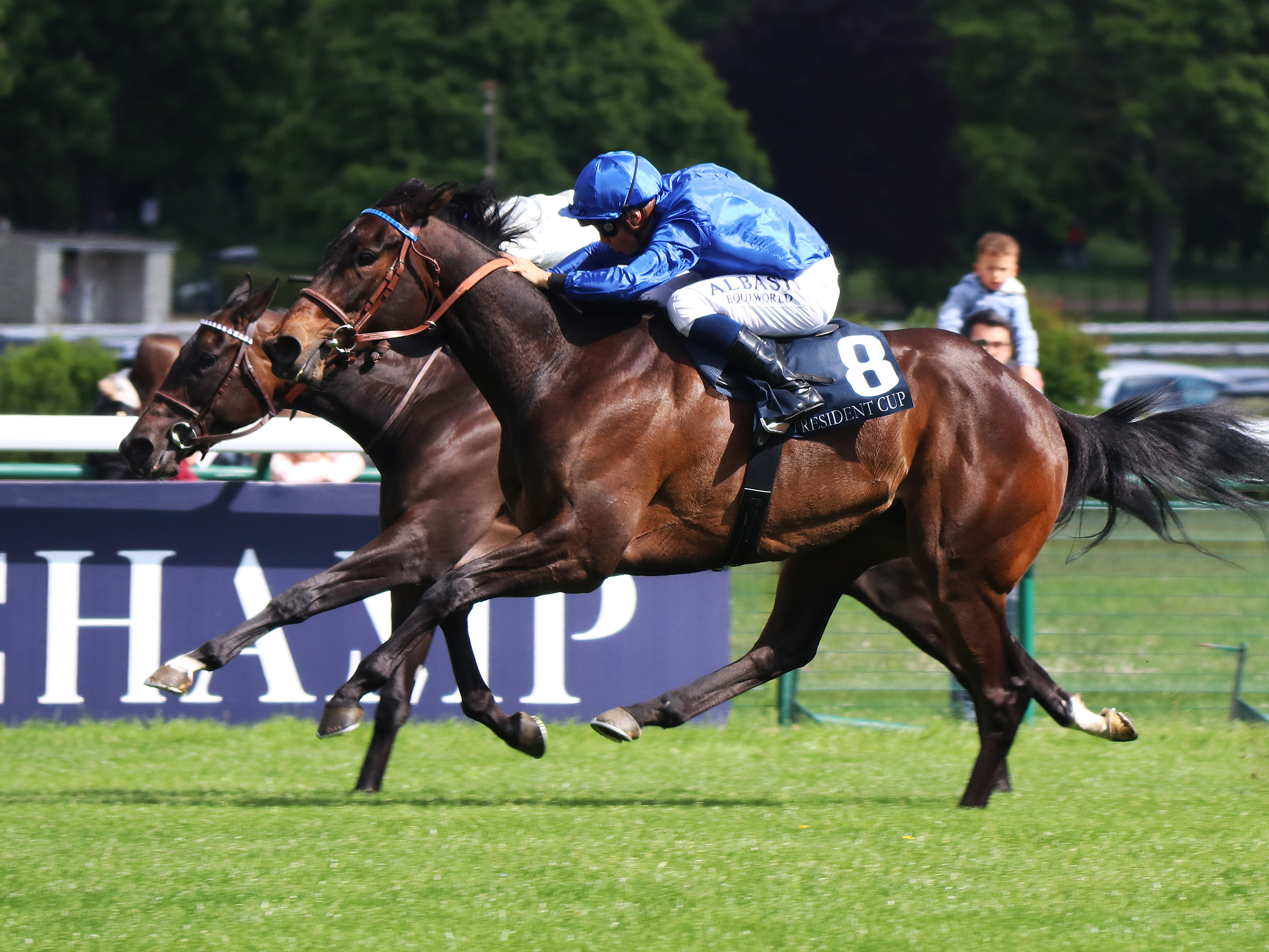 Castle Lady en route to success at ParisLongchamp (Focusonracing)