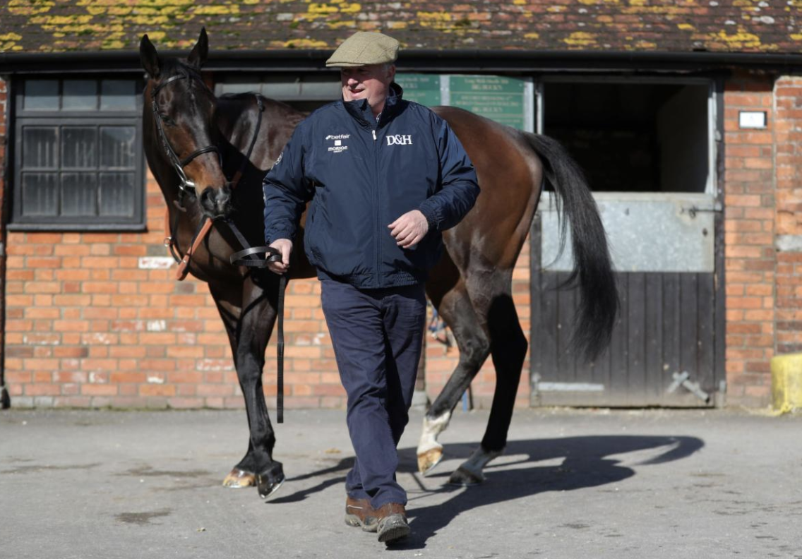 Nicholls and Frodon at Ditcheat this morning