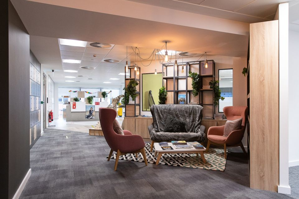 Leased breakout space