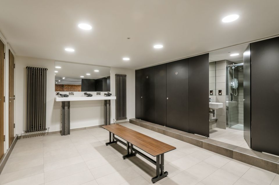 Brand new shower and changing facilities