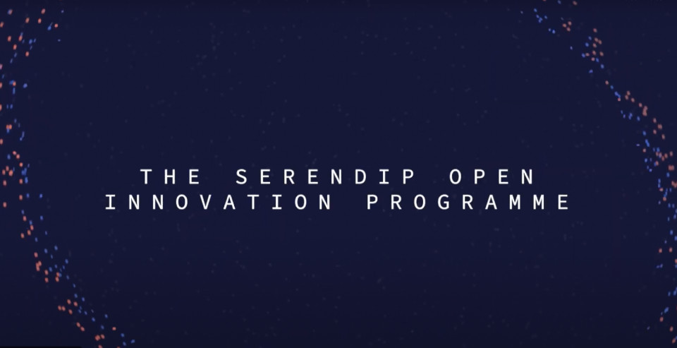 A screengrab from the Serendip open innovation programme film