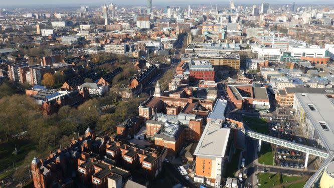 Oxford Road Corridor aerial