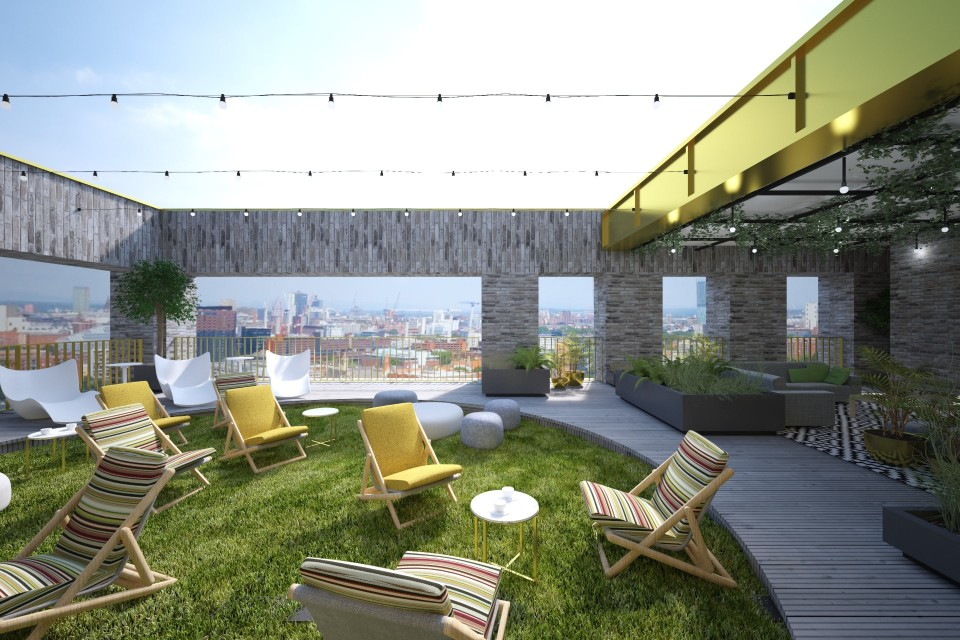 New roof terrace space