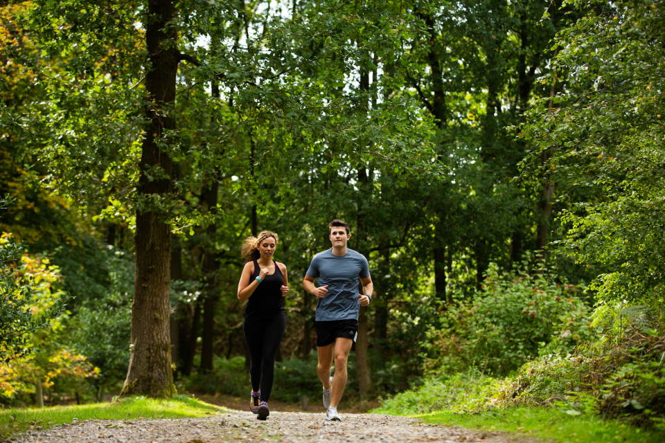 Walking and running routes at Alderley Park
