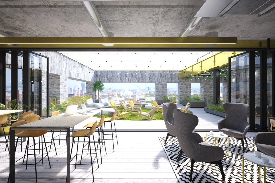 Base's new roof terrace and event space