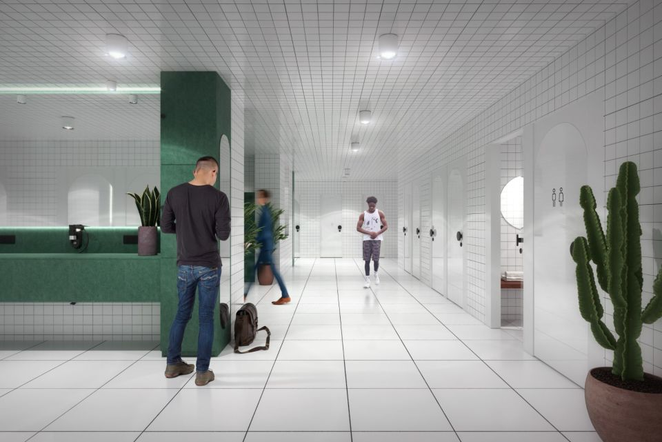 Changing rooms & showers - coming summer 2021