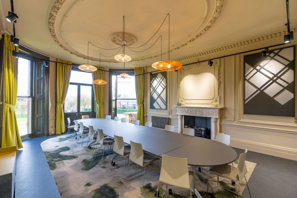 Booths park meeting rooms