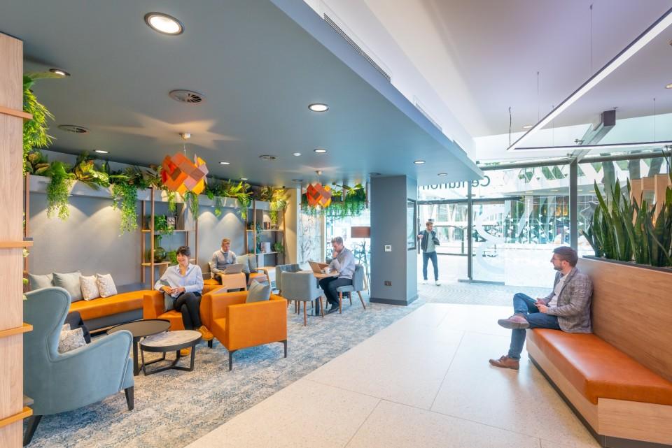 Newly refurbished reception area