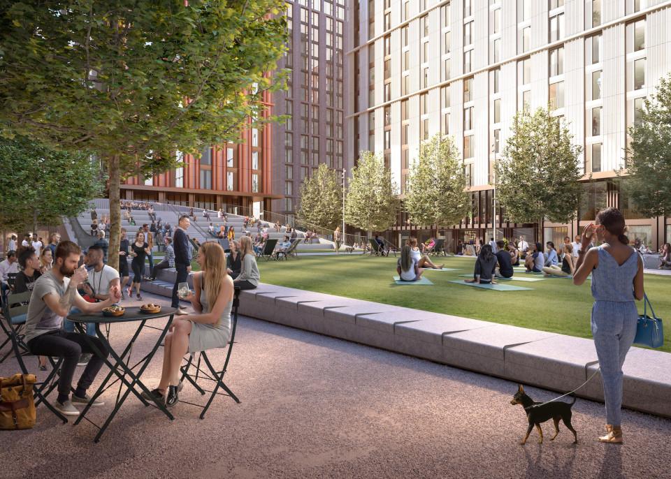 Symphony Park - yoga on the green
