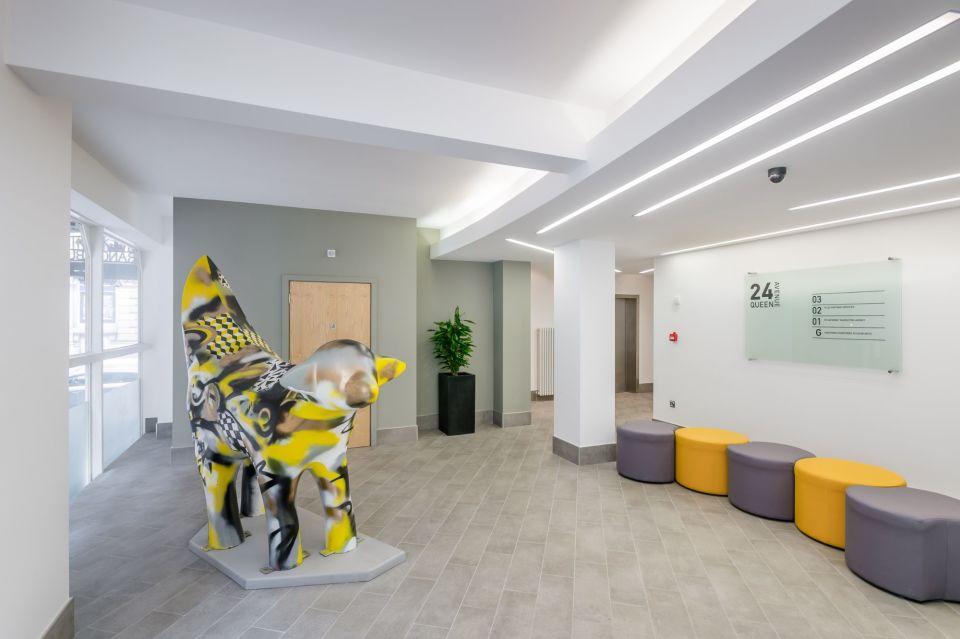 Reception waiting area