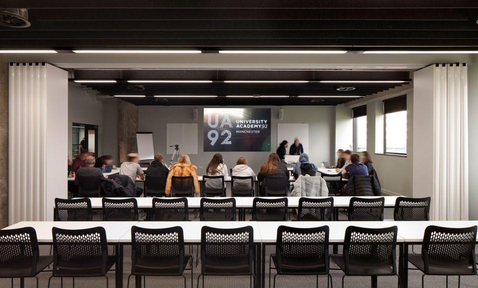 University academy classroom