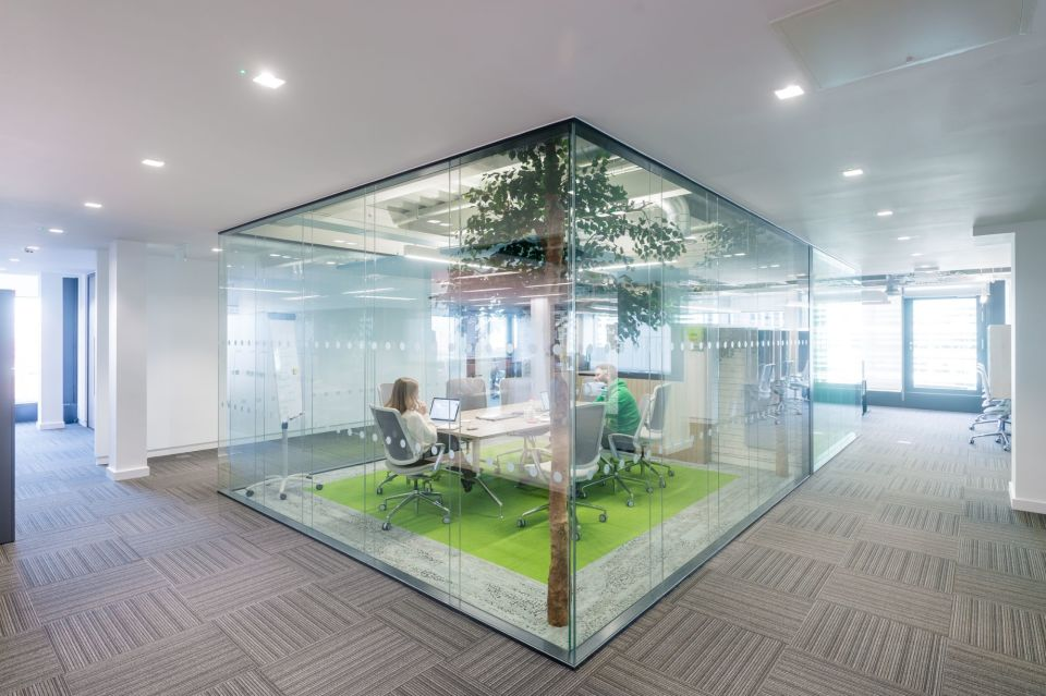 Example meeting room in a leased office