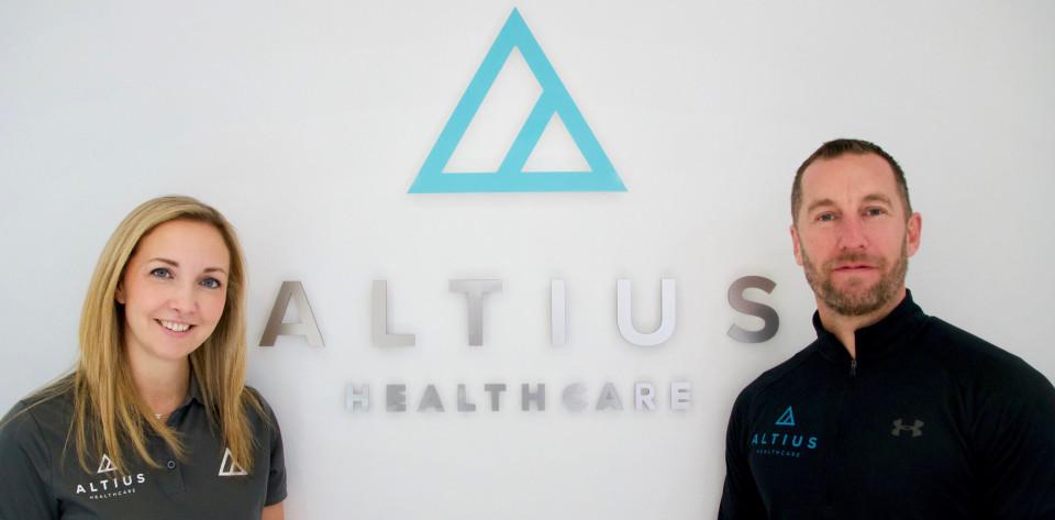 Photograph of Anna Jones and Doug Jones from Altius Healthcare