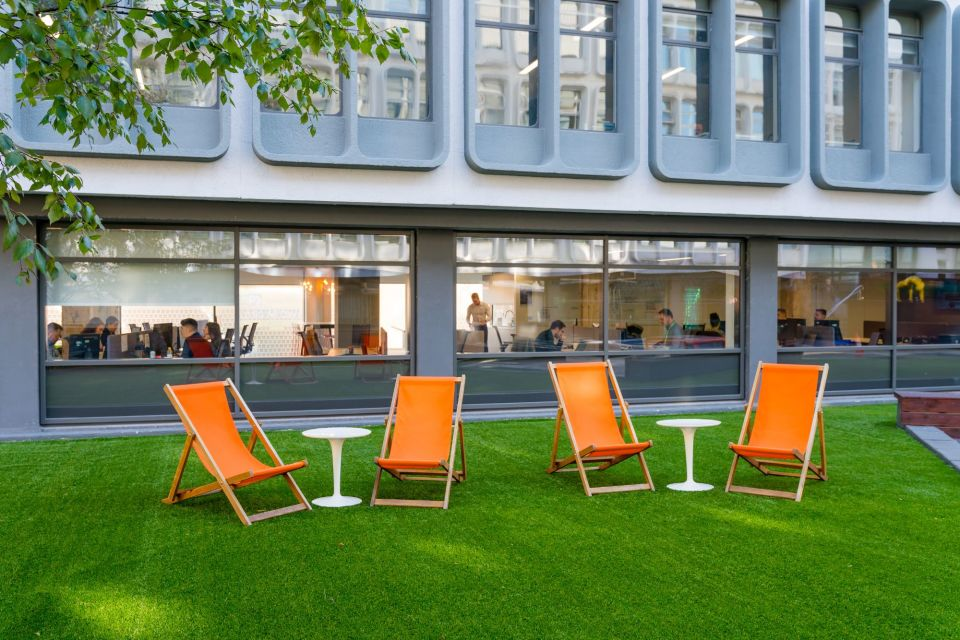 Courtyard deck chairs