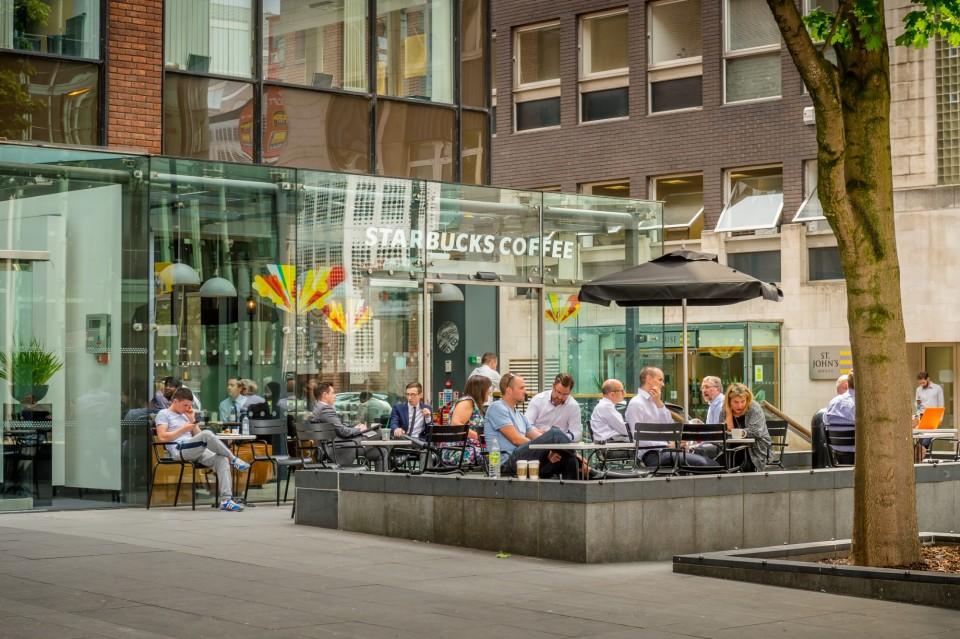 On-site Starbucks coffee shop