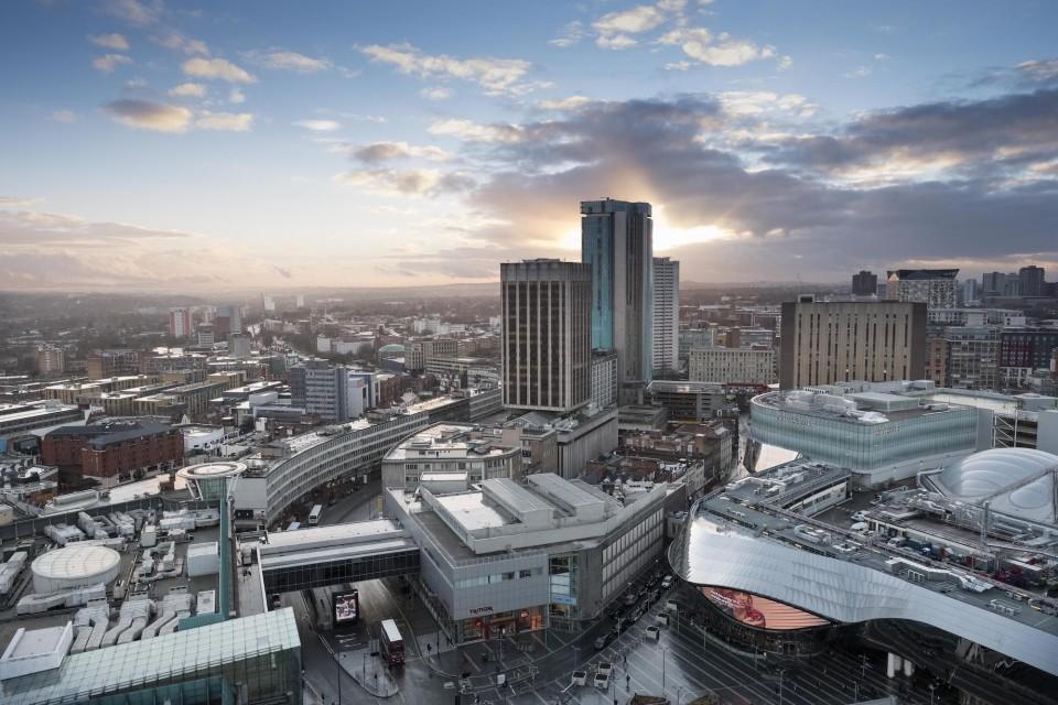 Birmingham city centre is a short walk away