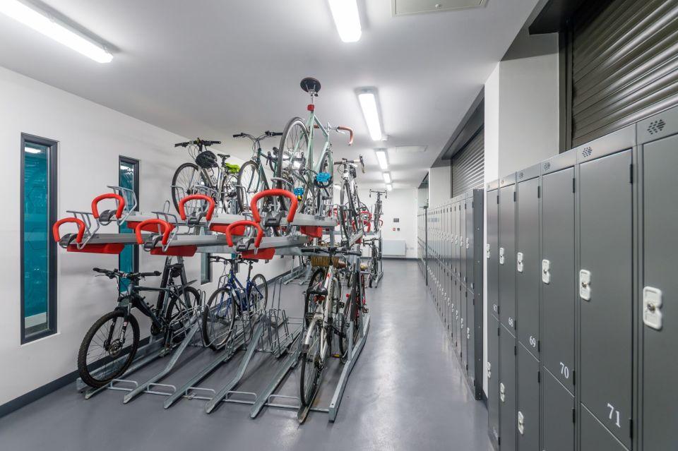 Cycle hub and lockers