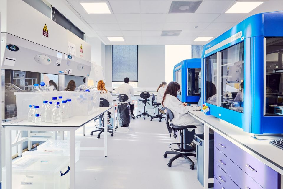 Lab space at Manchester Science Park
