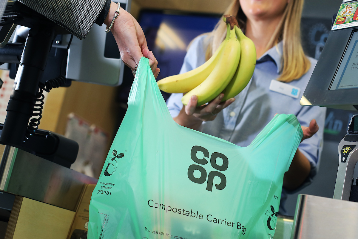 Shoppers can bag compostable carriers at Co-op as retailer