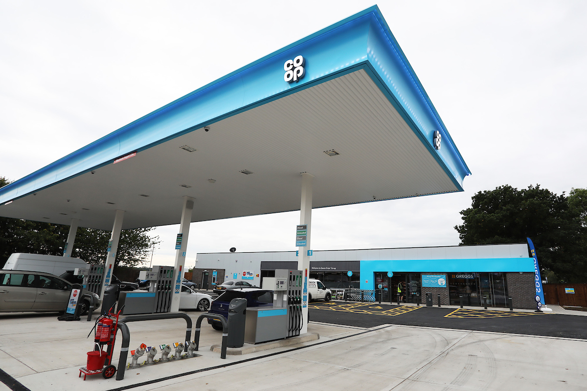 Co Op Saxon Cross Petrol Station And Food Store Opens Off Junction 17 Of M6 Motorway Co Op