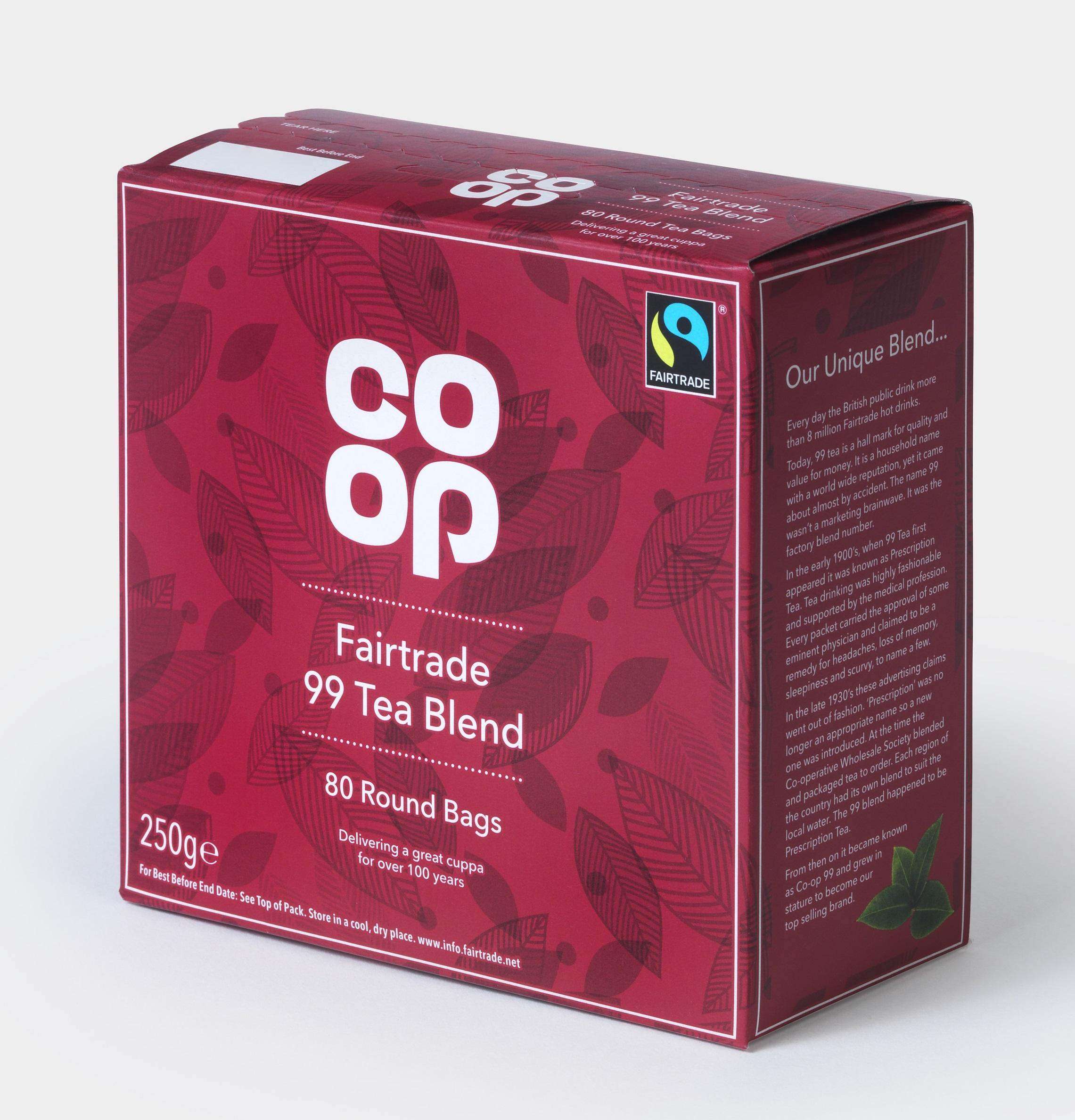 co-opの赤い紅茶の箱