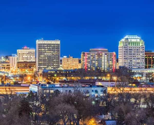 Colorado Springs Skyline Night > Image > Hero