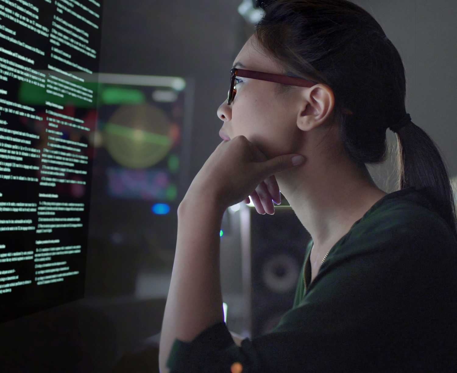 A young woman concentrating on auditing data | Hero