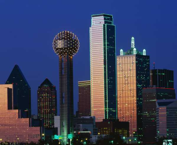Dallas Skyline Twilight > Image > Hero