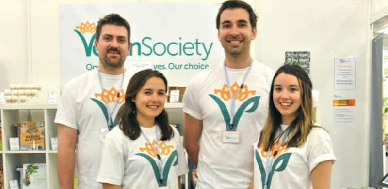 Vegan Society-volunteers