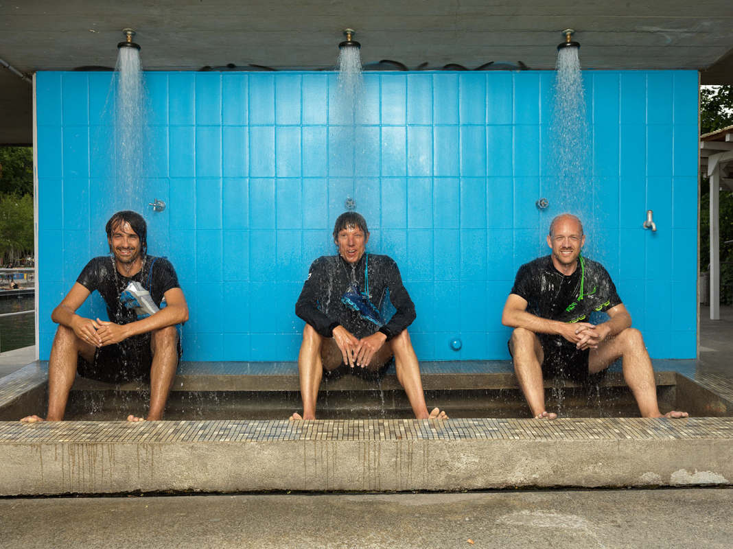 Caspar Coppetti, Olivier Bernhard, e David Allemann, fundadores da On Running | Foto: Divulgação/On