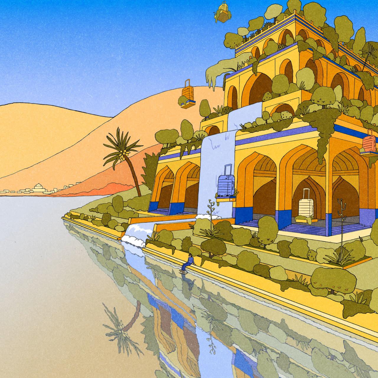 Illustrated Hanging Gardens of Babylon