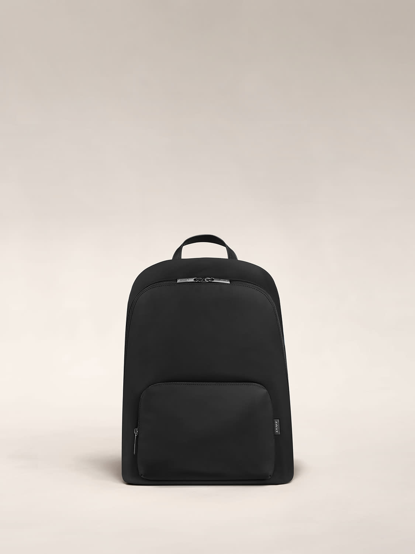 The Front Pocket Backpack in Black nylon