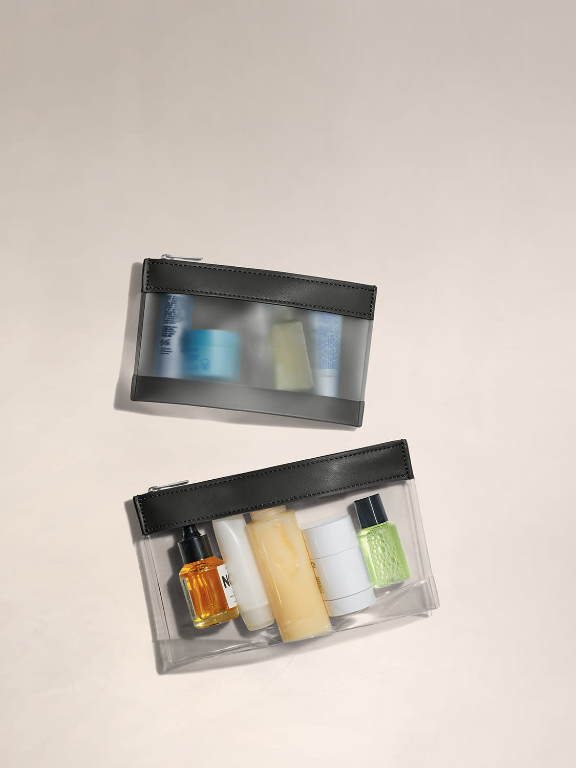 The Clear Pouch Set in Black
