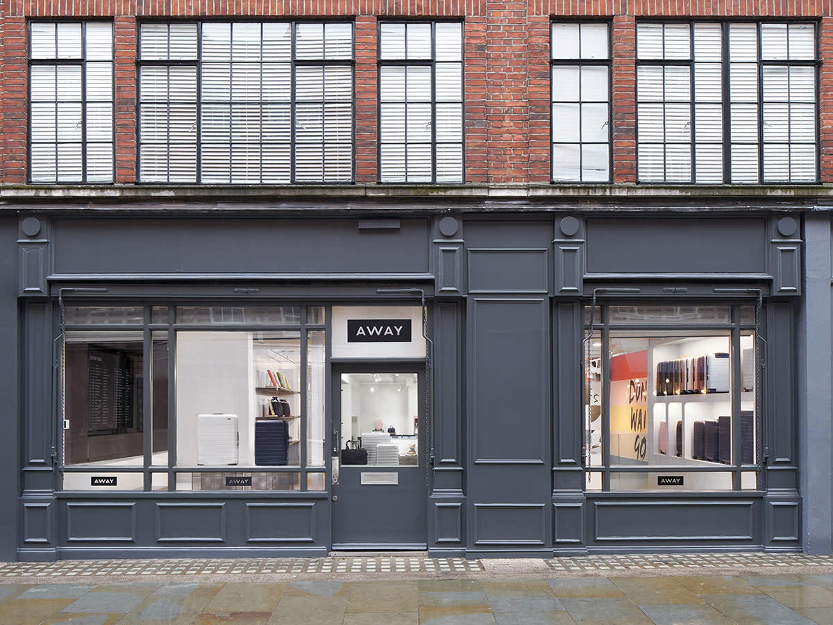 Exterior of the Away store in London, Seven Dials in Earlham.