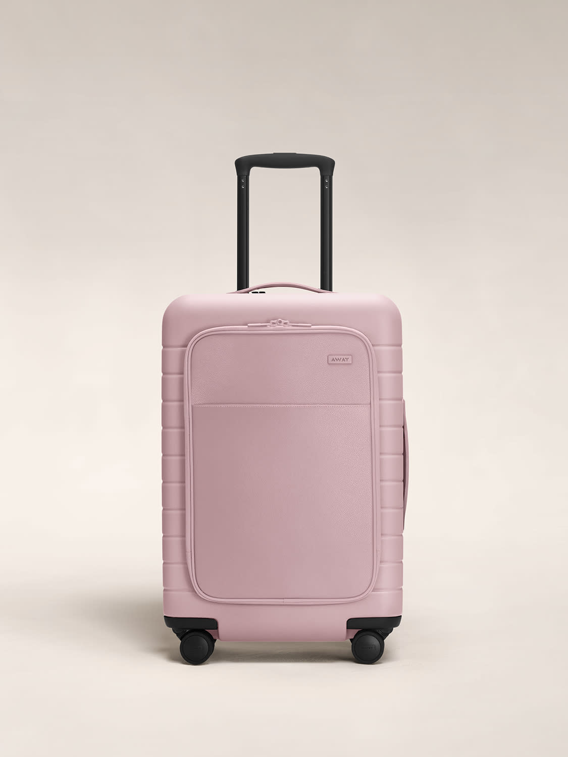 The Bigger Carry-On with Pocket in Blush leather