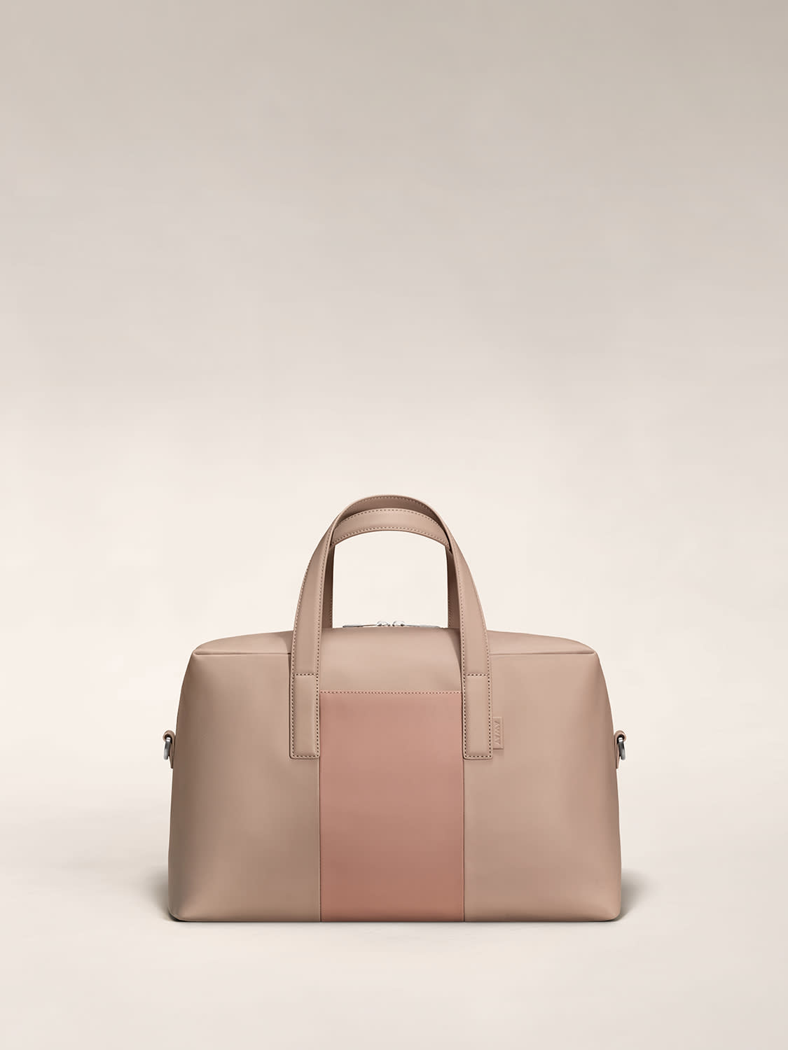 The front view of The Everywhere Bag in Dusty Rose/Taupe