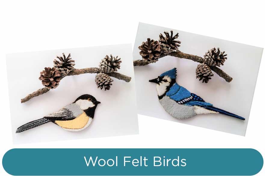 Wool-Felt-Bird-Ornaments