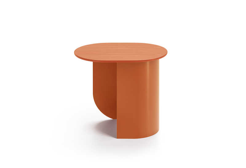 Plateau Sidetable Caramel Side