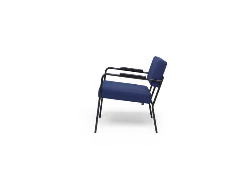 FEST-monday lounge chair with arms board darkblue side