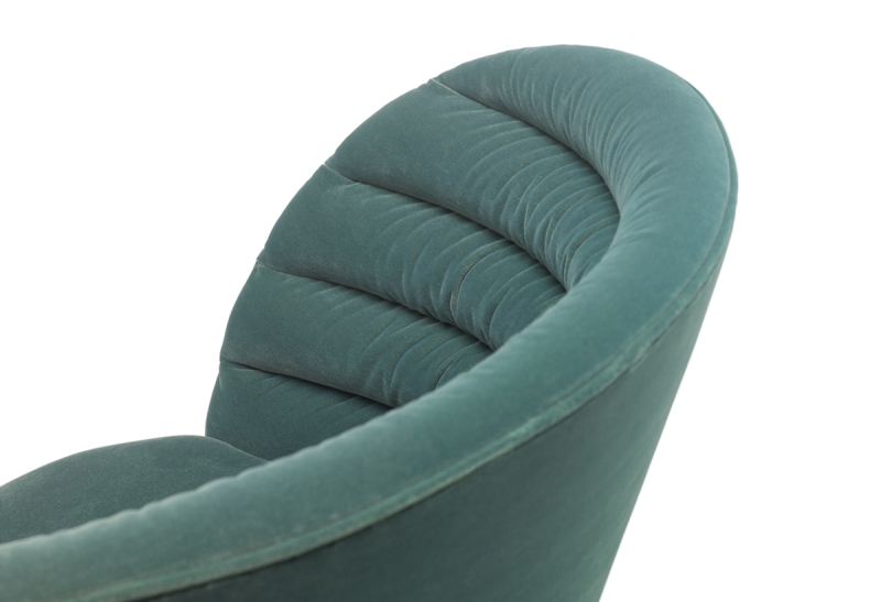 FEST phoebe lounge chair royal turquoise detail
