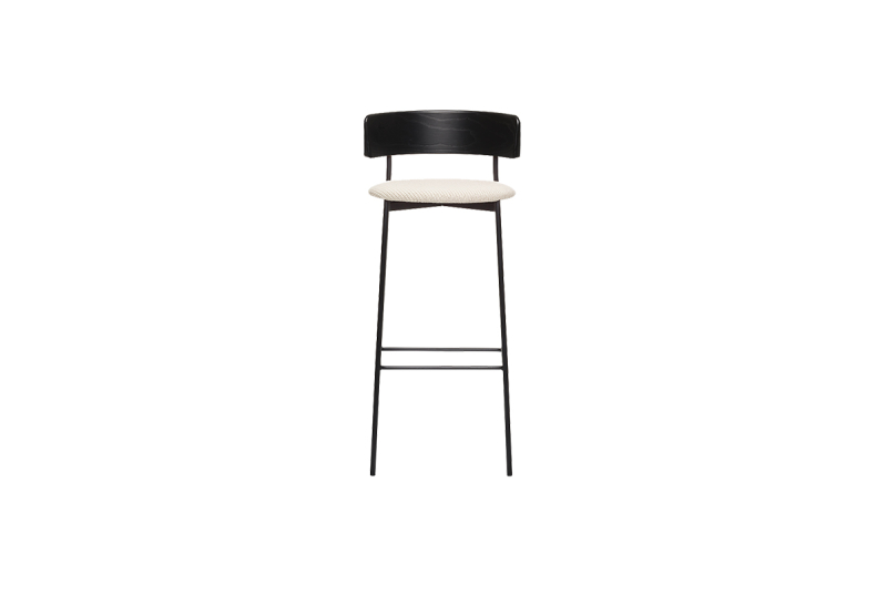 FEST friday bar stool black back coda 2 103 front