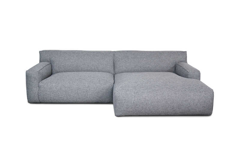 FEST clay 1,5-seat AL longchair AR polvere 90 grey front