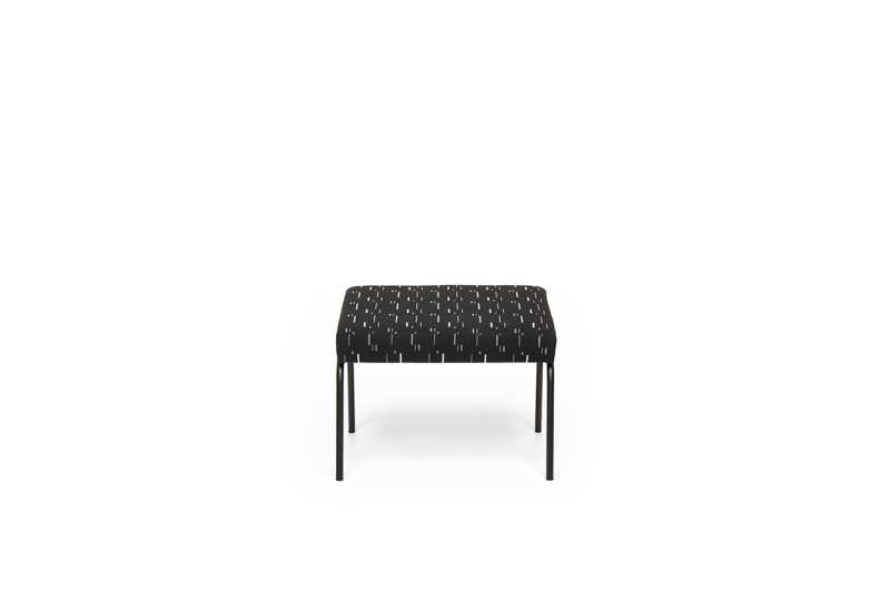 FEST monday ottoman mode black front