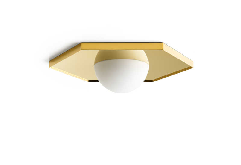 Holo Light Ceiling Hexagon Gold