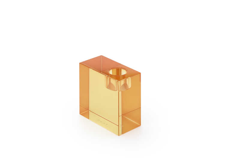 Parker candleholder orange